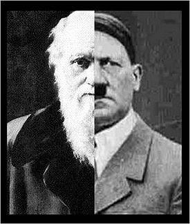 Charles Darwin, Adolf Hitler and Joseph Stalin