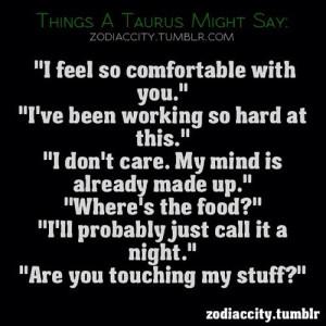 taurus zodiac sign quotes