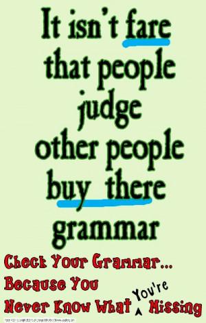 Grammar Fun: Grammar Errors Poster