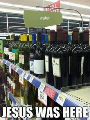 Water: Jesus was here