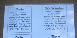 hand sanitizer or soap a quote or saying copied onto overhead ...