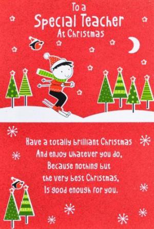 Teacher Christmas Cards