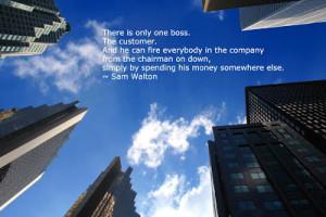 Customer Service Wallpaper- Sam Walton