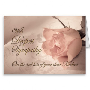 Sympathy card on the death of mother
