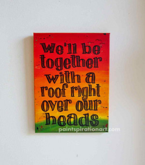 ... Quotes on Canvas Rasta Colors Red Yellow and Green - Love Sayings
