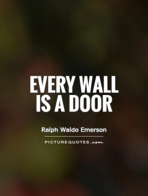 Wall Quotes Door Quotes Ralph Waldo Emerson Quotes