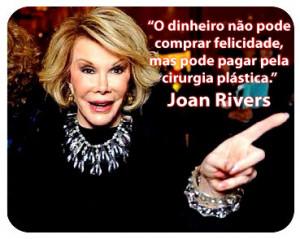 Joan Rivers umaediante famosa nos Estados Unidos que afirma ter
