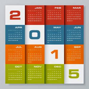 New Year 2015 Calendar for Desktop, laptop, pc