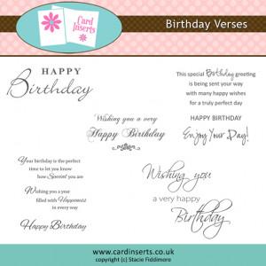 Birthday Verses