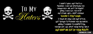 Haters Quote Facebook Cover