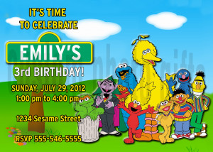 Sesame Street Invitations Personalized