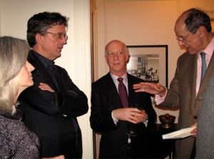 Anne Kreamer and her husband Kurt Andersen with Paul Goldberger and