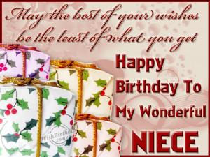 Happy Birthday To My Wonderful Niece