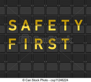 Vector - Safety First Flip Board - stock illustration, royalty free ...