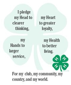 pledge clover...4H taught me so much!!! More