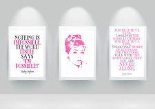 pink audrey hepburn paris watercolor Modern quote Print Poster wall ...
