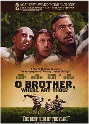 Everett, Pete y Delmar huyen de la prisión donde estaban condenados a ...