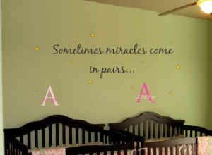 Baby TWINS Saying Quote AND Name Initial Stars by AllOnTheWall, $33.00 ...