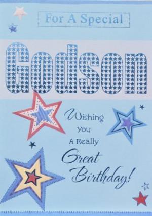 Godson Birthday Cards