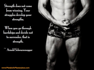 Motivational Fitness Quote from Arnold Schwarzenegger