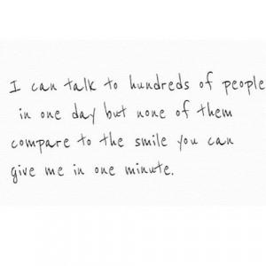 he makes me smile