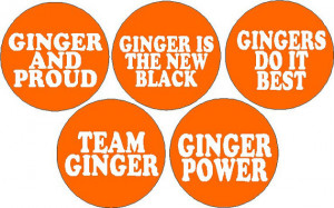Set of 5 Ginger Red Hair Funny Humor Sayings Quotes Team Power Pride 1 ...