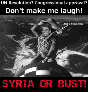 if barack obama is going to attack syria he is going to do it without ...