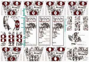 This is the entire Alice in Wonderland Party Printable collection by ...