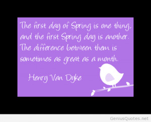 The first day of spring quote / Genius Quotes