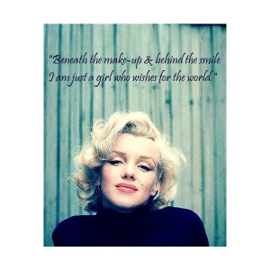 Marilyn Monroe Quotes Quotes Myspace Graphics found on Polyvore