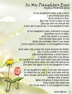 In my daughters eyes - Martina McBride . . . Because I am blessed with ...