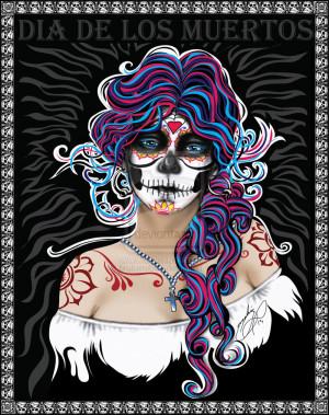 Dia Los Muertos Girl Eeriette