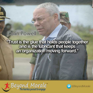 Image – Colin Powell trust quote