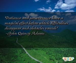articles from our library related to the Patience And Perseverance ...