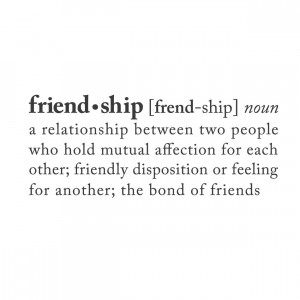 definition of friendship