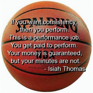 Basketball quotes and sayings isiah thomas money time