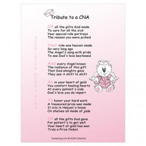 CafePress > Wall Art > Posters > Tribute to a CNA Wall Art Poster