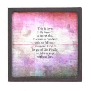 Rumi quote.Spiritual, Inspirational LOVE art Premium Trinket Box