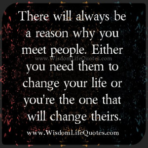 destined to meet all kinds of people in our life everyday. Who We meet ...
