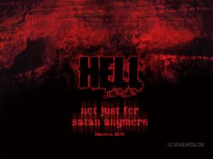 Mattew 25:41 satan sinster evil hell