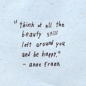... Anne Frank, but if you know it. That makes the definition and meaning