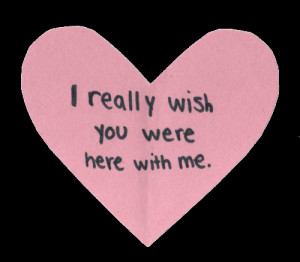 cute quote heart pink wish transparent