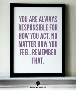 Your #responsibility...