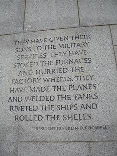 World War II Memorial, Washington DC. More