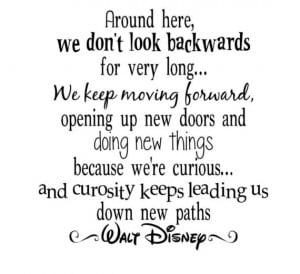 Walt Disney Quote Keep Moving Forward Vinyl Lettering 20x19 Wall ...