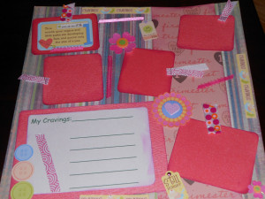 12x12 Premade Pregnancy Scrapbook Pages