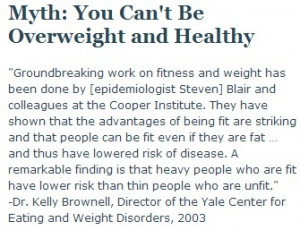 ... Epidemiology, 2002 -quotes from studies done on fatness, fitness and