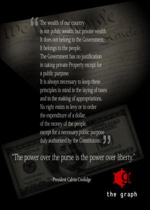 Calvin Coolidge on Taxes