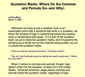 Periods and Quotations Marks: Grammartips.homestead.com