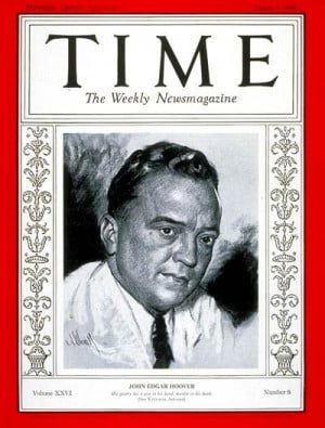 TIME Magazine Cover: J. Edgar Hoover - Aug. 5, 1935 - J. Edgar Hoover ...
